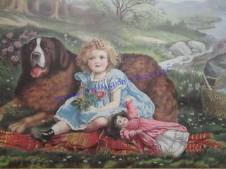 GIRl  DOll   DOG PICTURE