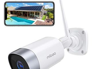 Security Camera Outdoor  Mibao 1080P WiFi Camera  IP66 Waterproof  with Two Way Audio  Night Vision  Motion Detection  Compatible with iOS Android  Use Wired Power