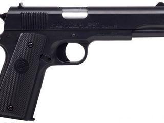 GameFace ASP311B Stinger P311B Spring Powered Single Shot Military Style Airsoft Pistol  Black