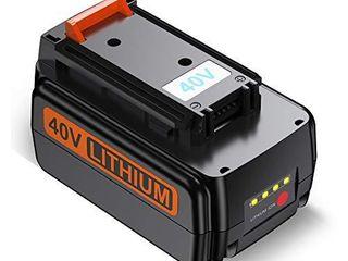 FirstPower 40V 3 0Ah Battery   Compatible with Black   Decker 40V lithium Ion Cordless Drills Power Tools lBX2040 lBX36 lBXR36 lBXR2036