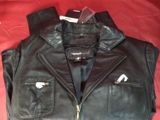 Tanners Avenue large Black leather Jacket