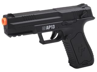 GameFace GFAP13 AEG Electric Full Semi Auto Airsoft Pistol With Battery Charger  Speed loader And Ammo  Black