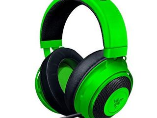 Razer Kraken Gaming Headset  lightweight Aluminum Frame  Retractable Noise Isolating Microphone  For PC  PS4  PS5  Switch  Xbox One  Xbox Series X   S  Mobile  3 5 mm Audio Jack Green