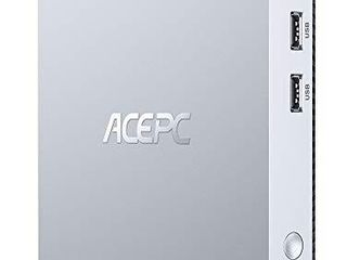 ACEPC Mini PC  4GB DDR3 64GB eMMC Mini Computer Intel x5 Z8350 Windows 10 Pro Fanless Desktop Computer Support 2 5 Inch SATA SSD HDD  HDMI VGA Port  4K HD  Dual Band WiFi  VESA Mount  Gigabit Ethernet