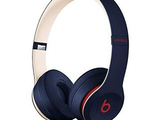 Beats Solo3 Wireless On Ear Headphones   Apple W1 Headphone Chip  Class 1 Bluetooth  40 Hours of listening Time  Built in Microphone   Club Navy  latest Model