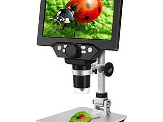 7 inch lCD Digital Microscope ANNlOV 1 1200X USB Maginfication Handheld Electronic Coin Microscope Video Camera with 8 Adjustable lED lights for Adults Coin Inspection Kids Outside Use a