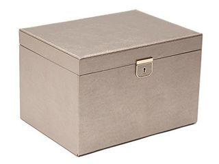 WOlF 213078 Palermo large Jewelry Box  8 5x11 5x7 5  Pewter