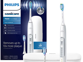 Philips Sonicare HX9690 06 ExpertClean 7500 Bluetooth Rechargeable Electric Toothbrush  White