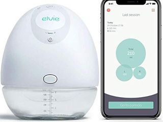 Elvie Single Electric Wearable Smart Breast Pump   Silent Hands Free Portable Breast Pump That Can Be Worn in Bra with App 2 Modes   Variable Suction