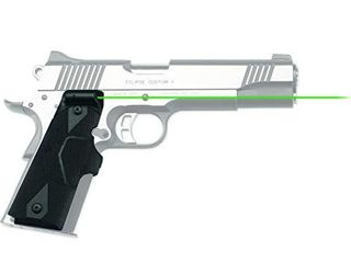 Crimson Trace lG 401G lasergrips with Green laser  Heavy Duty Construction and Instinctive Activation for 1911 Full Size Pistols  Defensive Shooting and Competition