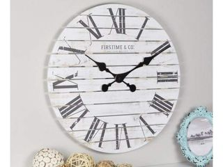 Shiplap Farmhouse Wall Clock