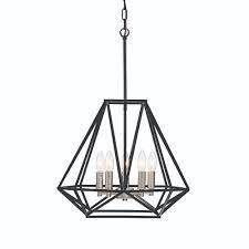4 light Geometric Cage lantern Chandelier