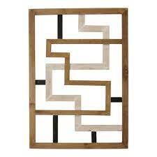 Modern Maze Wood Wall Art