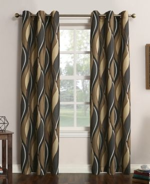 No  918 Intersect Grommet Woven Print Curtain Panels SET OF 2