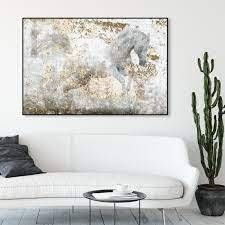 Oliver Gal Running Equus Animals Canvas Wall Art