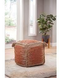 The Curated Nomad Jansen Handwoven Jute Pouf