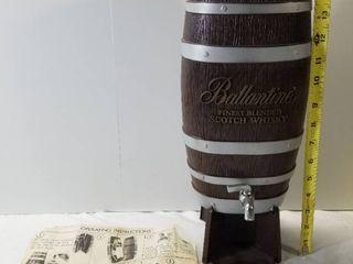 Ballantines Finest Blended Scotch and Whiskey Dispenser  Metal Faucet