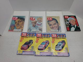 lot Of 7 Vintage TV Guide Collectors Editions