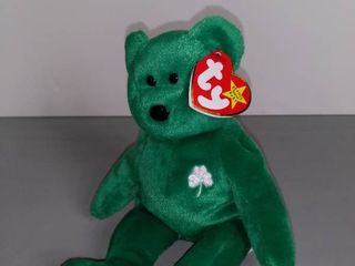 ERIN The Beanie Baby 1997   Green With Clover Patch
