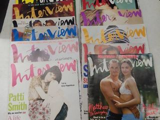 lot of 1990s Interview Magazines