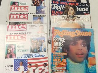 lot of Rolling Stone and Music Entertainment Magazines