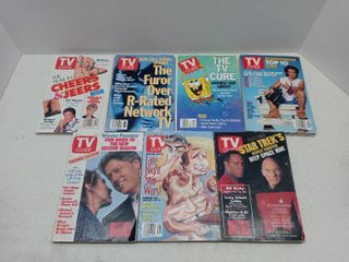 lot lot Of 7 Collectible TV Guide Magazines