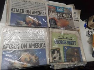 lot of Newspapers 1990s 2000s  Attack on America Princess Do George Brett