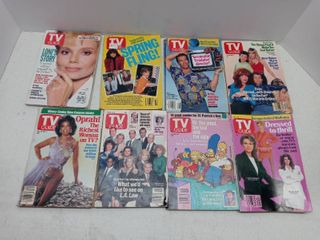 lot Of 8 Collectible TV Guide Magazines