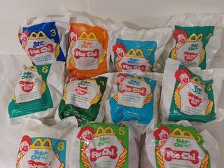 lot of 11 McDonald s Happy Meal Toys Year 2000   Robo Chi Pets Poo Chi and Meow Chi Numbers 1 3 5 6 7 8