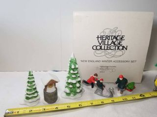 Heritage Village Collection  New England Winter Accessory Set  Department 56