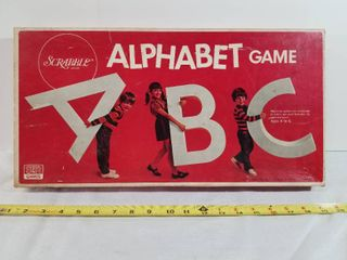 Vintage Alphabet Game By Scrabble