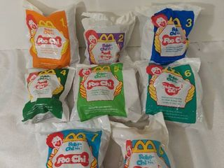 lot of 8 McDonald s Happy Meal Toys Year 2000   Robo Chi Pets Poo Chi and Meow Chi Toys