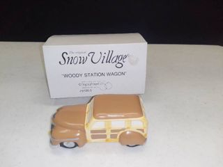 Dept  56 Snow Village Woody Station Wagon