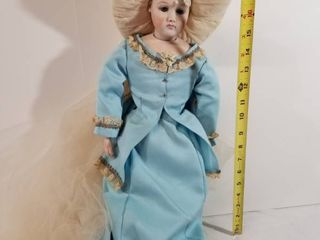 Beautiful Porcelain Doll with Headdress