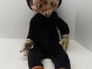 Vintage Mickey Mouse Doll  Rough Condition