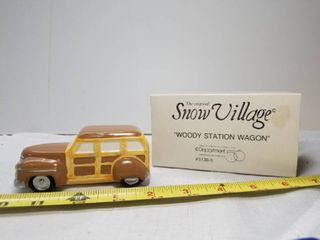The Original Snow Village  Woody Station Wagon  Department 56