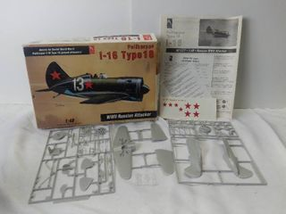 Hobby Craft Polikarpov 1 48 Scale Model Kit WWII Russian Attacker   Pieces Seem to All Be Present