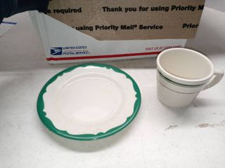 lot Of 32 Saucers And 6 Coffee Cups From Buffalo China
