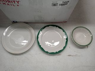 lot Of Buffalo And Ultima China Saucers And Small Bowls