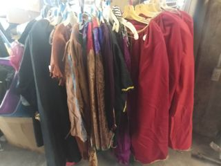 lot of Medieval Roman and Native American Costumes