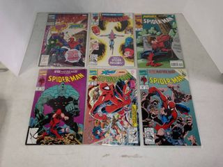 lot Of 6 Spider Man Comic Books