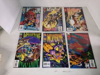 lot Of 6 Assorted Wolverine Comics