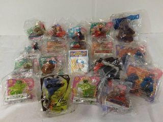 lot of 20 Mcdonalds Happy Meal Toys   Disney Mobile Figurines  Aladdin  Build a bear  and other Disney Characters