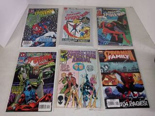 lot Of 6 Different Spider man Comic Books
