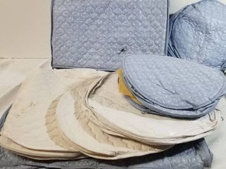 Mega lot of Quilted China Storage  Blue and White