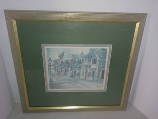 Framed Picture Of A Section Of The French Quarter