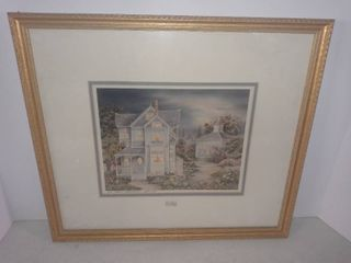 A Framed Country Setting Picture By Barbara Burnett