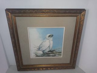 Framed Picture Baby Bald Eagle In Nest