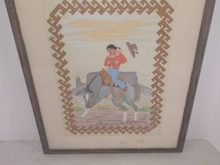 Framed Piece Of Native American Artwork