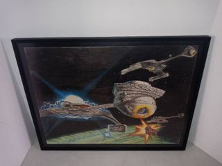 Nice Framed Piece Of Space Age Artwork